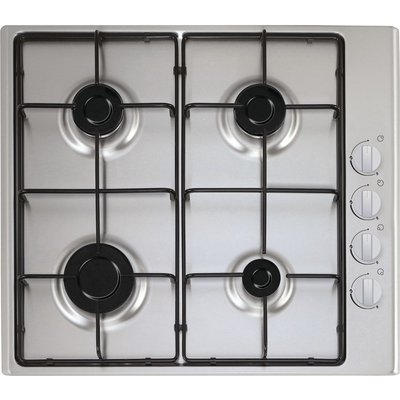 ESSENTIALS  CGHOBX16 Gas Hob   Stainless Steel  Stainless Steel - 5017416567053