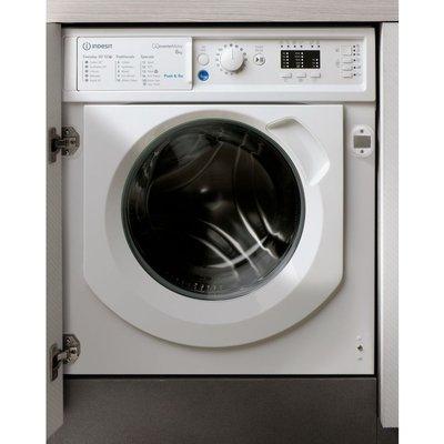 INDESIT BIWMIL81284 Integrated 8 kg 1200 Spin Washing Machine, Blue