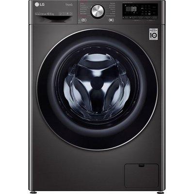 LG TurboWash 360 with AI DD V10 F6V1010BTSE WiFi-enabled 10.5 kg 1600 Spin Washing Machine - Black, Black