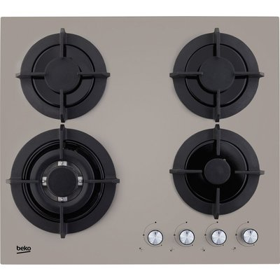 5023790039277 | Beko HISW64222SG 4 Burner Grey Stainless Steel Gas Gas On Glass Hob