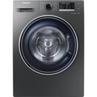Samsung ecobubble WW80J5555FX/EU 8 kg 1400 Spin Washing Machine - Graphite, Graphite