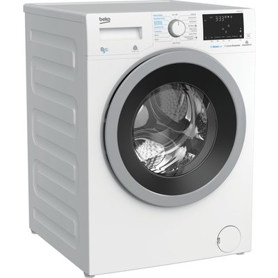 Pro WDX850130W Bluetooth 8 kg Washer Dryer - White, White