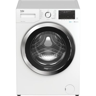 BEKO AquaTech WEX104064E0W Bluetooth 10 kg 1400 Spin Washing Machine - White, White