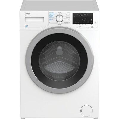 BEKO WDEX8540430W Bluetooth 8 kg Washer Dryer - White, White