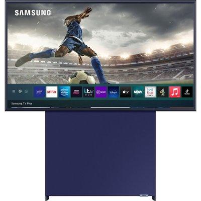 SAMSUNG The Sero QE43LS05TAUXXU  Smart 4K Ultra HD HDR QLED TV with Bixby, Alexa & Google Assistant - Navy Blue, Navy