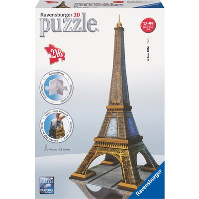 Ravensburger Eiffel Tower Building 216 Piece 3D Puzzle