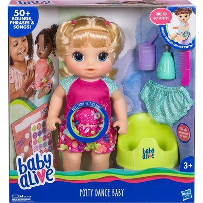 Baby Alive Potty Dance Blonde Hair Baby Doll