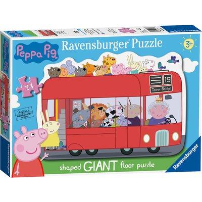 Ravensburger Peppa Pig London Bus 24 Piece Giant Puzzle