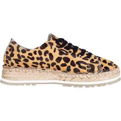 Shabbies-Espadrilles - Espadrille Lace Up Leopard - Brown