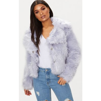 Ice Grey Faux Fur Jacket, Ice Grey