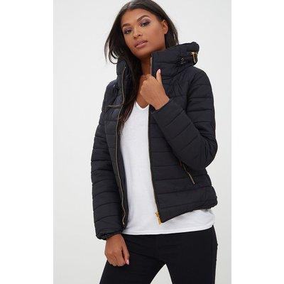 Mara Black Puffer Jacket, Black