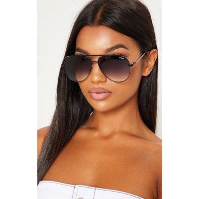 QUAY AUSTRALIA Black High Key Aviator Sunglasses, Black
