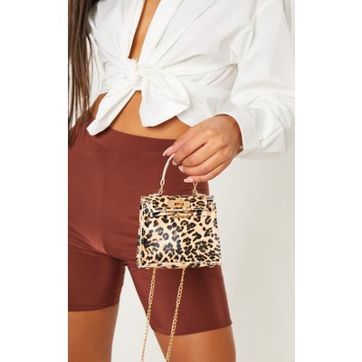 Leopard Print Micro Mini Bag, Animal