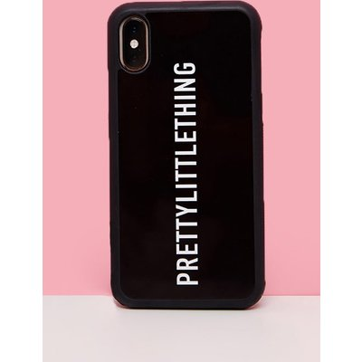 PRETTYLITTLETHING Black Logo 7 Plus iPhone Case, Black