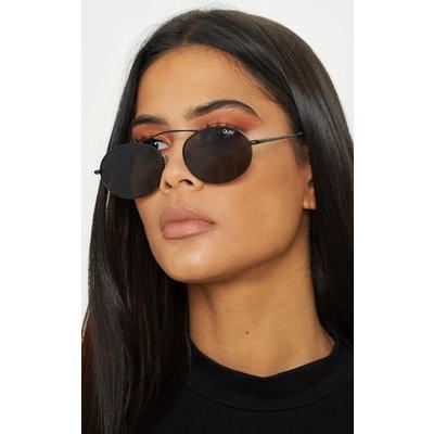 QUAY AUSTRALIA X FINDERS KEEPERS Black Frame Smoke Lens Oval Sunglasses, Black