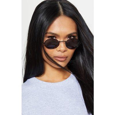 Black Oval Sunglasses, Black