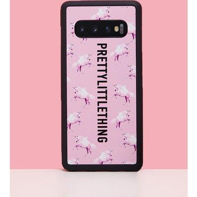 PRETTYLITTLETHING Unicorn Pink Samsung S10 Plus Phone Case, Pink
