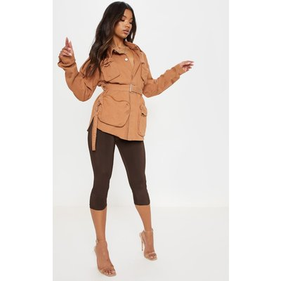 Sand Military Pencil Pocket Denim Jacket, Sand