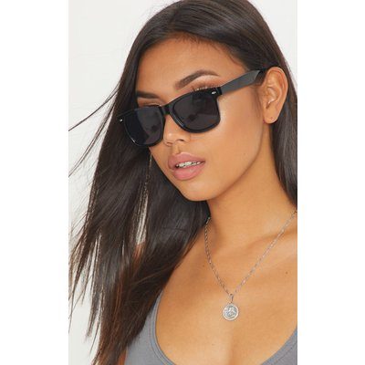Black Classic Square Sunglasses, Black