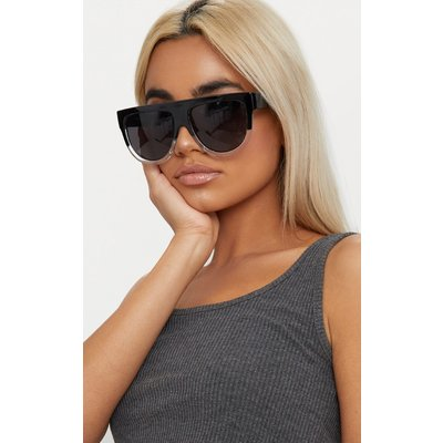 Kristen Black & Clear Frame Sunglasses, Black