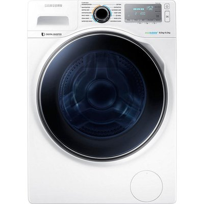 Samsung WD90J7400GW Freestanding Washer Dryer  9kg Wash 6kg Dry Load  A Energy Rating  1400rpm Spin  White - 8806086906395