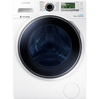 Samsung WD12J8400GW Freestanding Washer Dryer  12kg Wash 8kg Dry Load  A Energy Rating  1400rpm Spin  White - 8806086427180