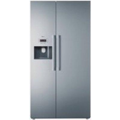 Neff KA3902I20G American Style Silver Freestanding Fridge Freezer - 4242004210948