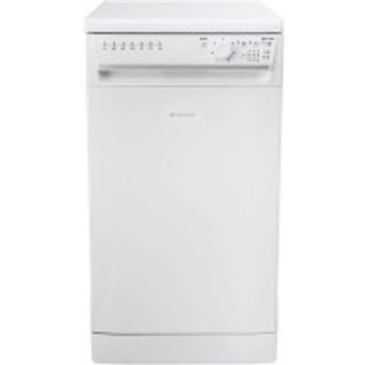 5016108868720: Hotpoint SIAL11010P 10 Place Slimline Freestanding Dishwasher Polar White