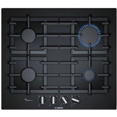 Bosch PPP616B91E 4 Burner Black Cast Iron Gas Hob - 4242002617473