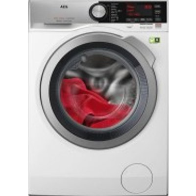 AEG 8000 Series L8FEC946R A    9kg 1400 Spin Washing Machine in White  with Chrome Door - 7332543546633