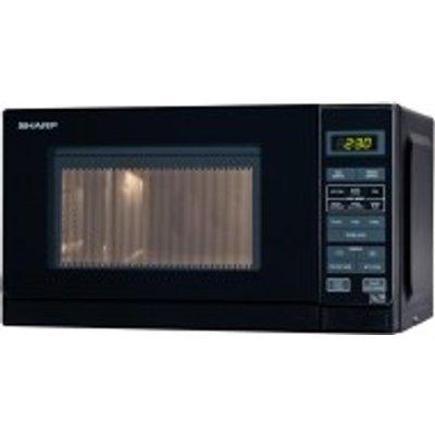 SHARP R272KM   20 ltr microwave in black - 4974019744513