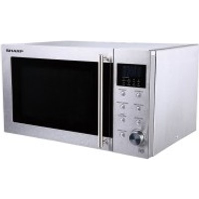 SHARP R28STM   Compact 23 litre Microwave Oven in Stainless Steel - 4974019769912