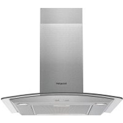 Hotpoint PHGC9 5FABX 90cm Chimney Hood in Stainless Steel   Glass - 5016108949887