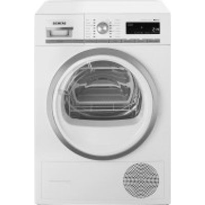 Siemens WT47W590GB Condenser Tumble Dryer  8kg Load  A   Energy Rating  White - 4242003682401