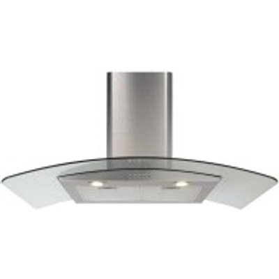 5060143318221 | CDA ECP62SS 60cm Chimney Cooker Hood   Stainless Steel Glass