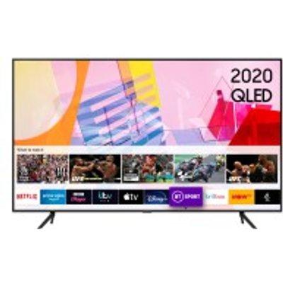 "QE75Q60T 75"" HDR 4K QLED TV with Alexa, Google & Apple TV app"