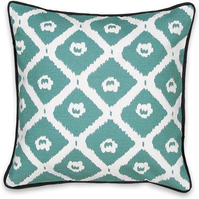 Bayac Ikat Print Cushion Cover, black/white;green/black;indigo/white/turquoise