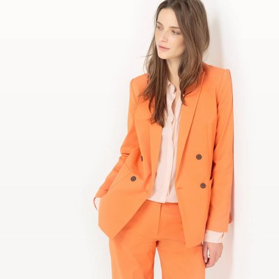 Double-Breasted Cotton Tailored Jacket