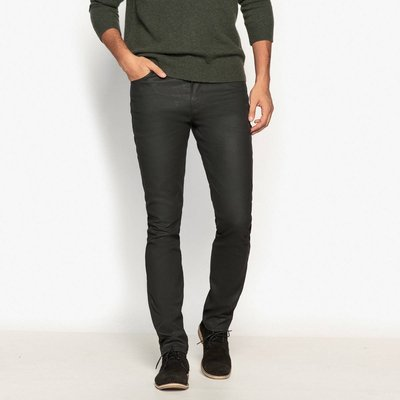 Slim Fit Jeans, coated untreated blue;coated black