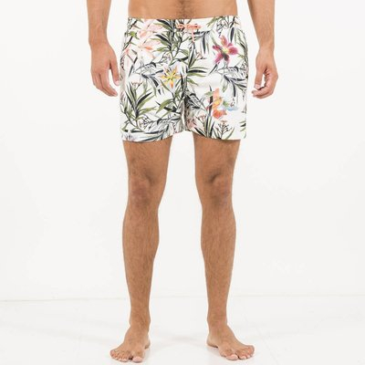 Volley Vinovo Floral Print Swim Shorts, White