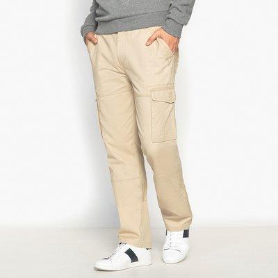 Regular Cotton Cargo Trousers, beige;grey;khaki;navy blue