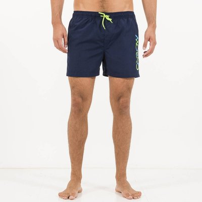 Volley Varello Swim Shorts with Fluorescent Details, Navy blue