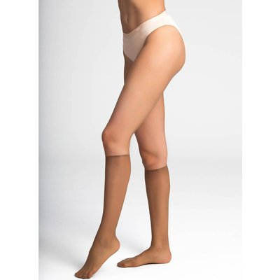 Pack of 2 Pairs of Sublime Glossy Voile Knee-Highs
