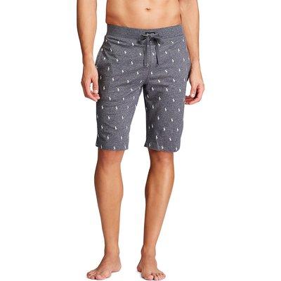 Cotton Pyjama Shorts in Polo Player Print - 3615739796109