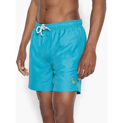 Swim Shorts with Elasticated Waist, navy blue;orange;green;blue