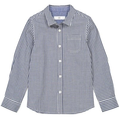 Checked Long-Sleeved Shirt, 3-12 Years