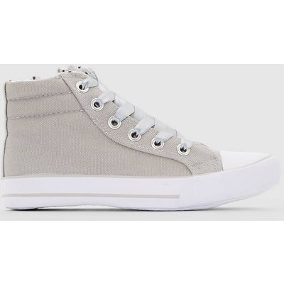 Satin-Effect Lace-Up Trainers, 26-39