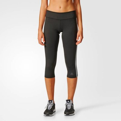 Cropped Sports Leggings with Side Stripes