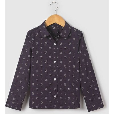 Squirrel-Printed Blouse, 3-12 Years