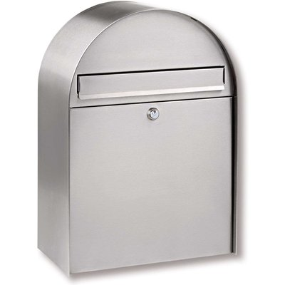 Nordic stainless steel letter box with curved form - 04003482368206